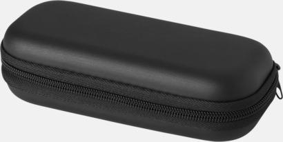 Fodral (svart) Billiga kompaktparaplyer i fodral med reklamtryck
