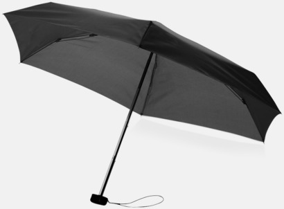 Billiga kompaktparaplyer i fodral med reklamtryck