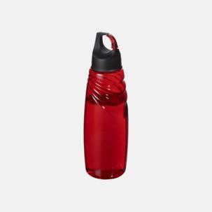 Vattenflaskor med karbinhake i locket - med reklamtryck