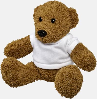 Mini Klassiska teddybjörnar i t-shirts med reklamtryck