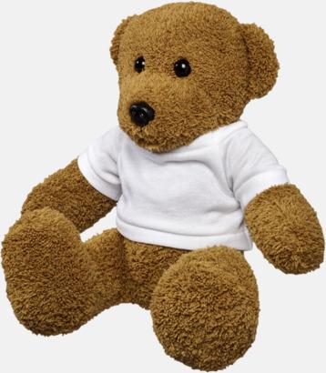 Stor Klassiska teddybjörnar i t-shirts med reklamtryck