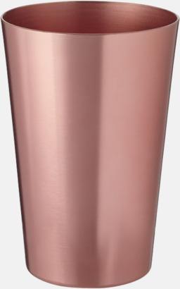 Koppar Ölglas i aluminium med reklamtryck