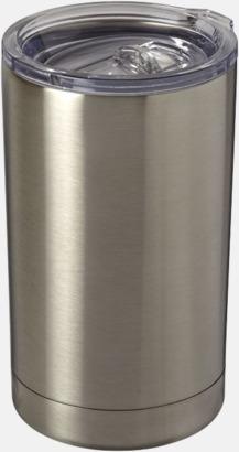 Silver Burkhållare med lock med reklamtryck