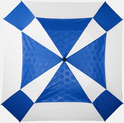 """Vit/Royal 30"""" Slazenger-paraplyer med reklamtryck"""