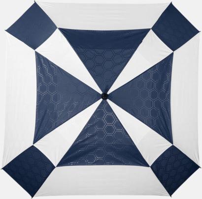 """Vit / Marinblå 30"""" Slazenger-paraplyer med reklamtryck"""