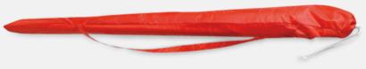 Röd Strandparasoller med reklamtryck