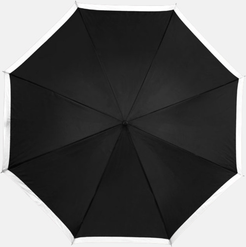 Svart / Vit Automatiska paraplyer med färgrand med reklamtryck