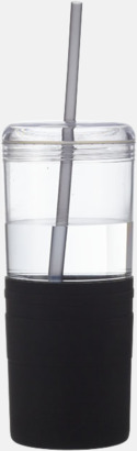 65 cl-glas med sugrör - med reklamtryck