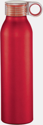 Röd 65 cl-vattenflaskor med reklamtryck