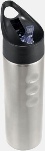 Silver Vattenflaska med drickpip - med reklamtryck