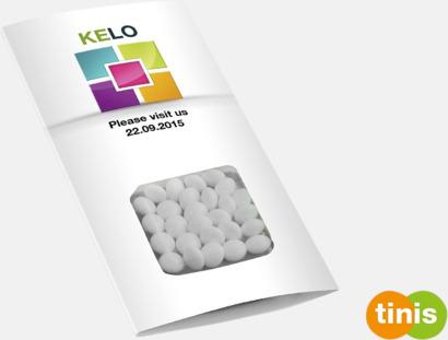 Kvadrat digitaltryck Förpackade godistabletter med eget tryck