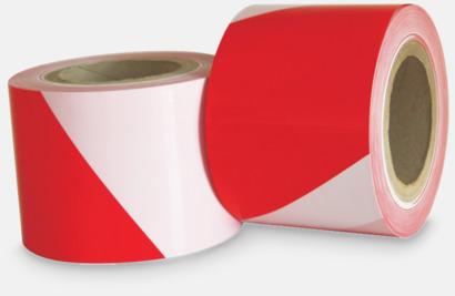 Vitt band med rött tryck Avspärrningsband med reklamtryck