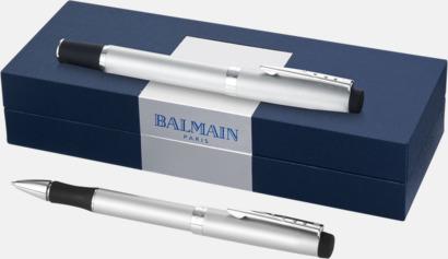 Presentförpackning Kromade pennset från Balmain med reklamtryck