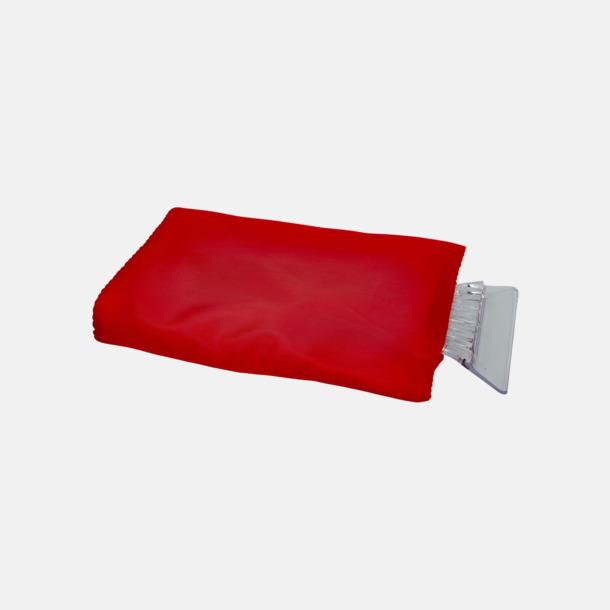 Röd Billiga isskrapor med handskar med reklamtryck