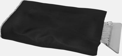 Svart Billiga isskrapor med handskar med reklamtryck