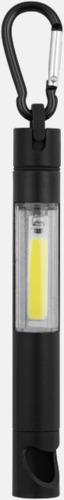 Små ficklampor med kapsylöppnare - med reklamtryck