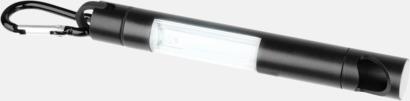 Svart Små ficklampor med kapsylöppnare - med reklamtryck