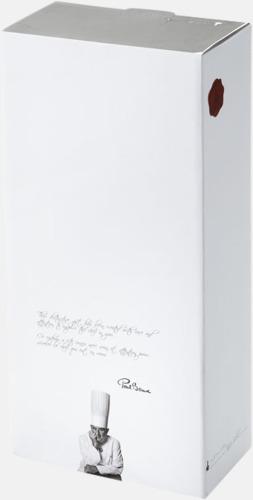 Presentförpackning Knivset med -block från Paul Bocuse med reklamtryck