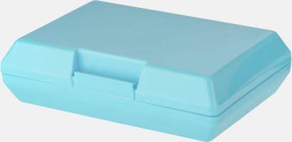 Blå Billiga matlådor med reklamtryck