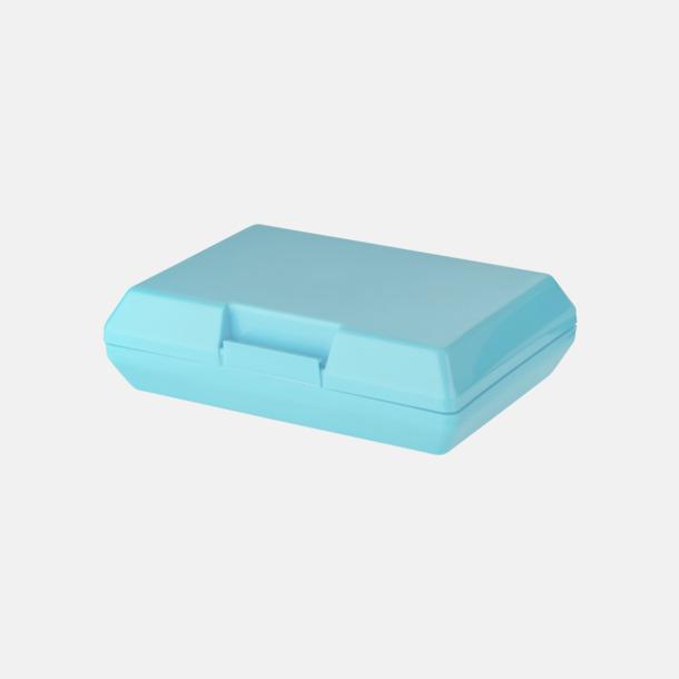 Ljusblå Billiga matlådor med reklamtryck