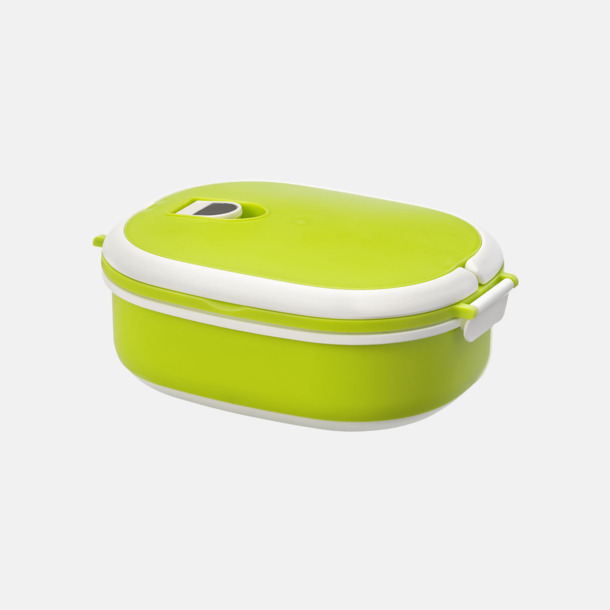 Limegrön Mikrovågssäker lunchlådor med reklamtryck