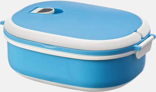 Blå Mikrovågssäker lunchlådor med reklamtryck