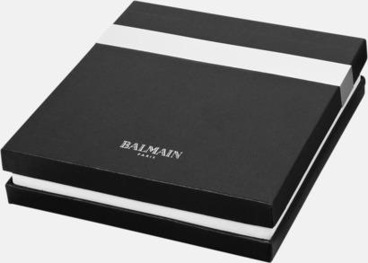 Presentförpackning Anteckningsset från Balmain med reklamtryck