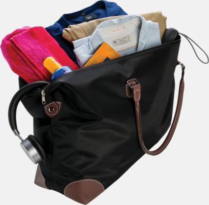 Weekend-väskor med PU-detaljer med reklamtryck