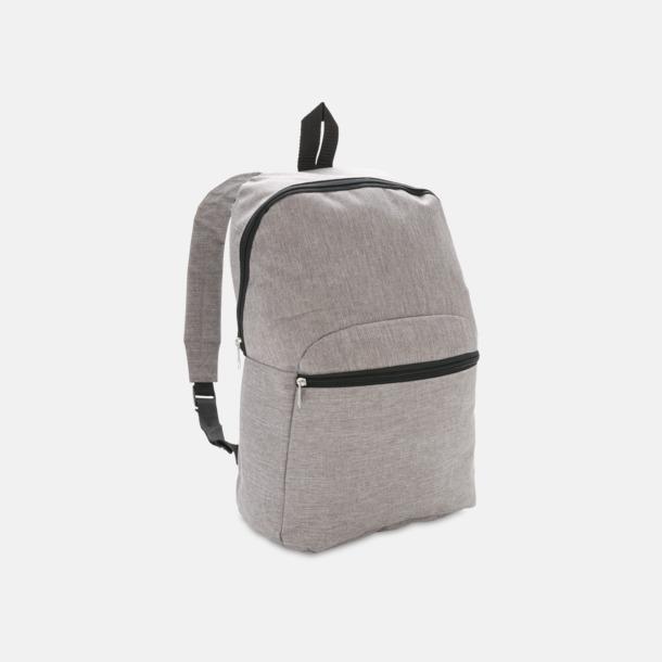 Grå Tvåtonade ryggsäckar med reklamtryck