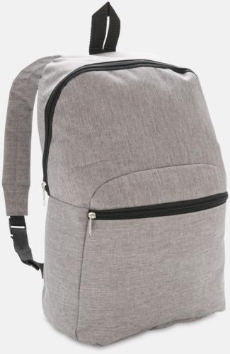 Ljusgrå Tvåtonade ryggsäckar med reklamtryck