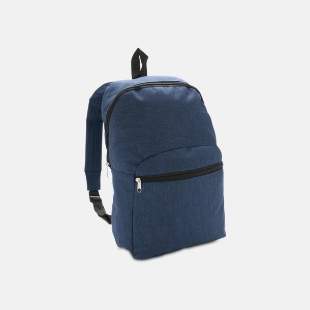 Blå Tvåtonade ryggsäckar med reklamtryck