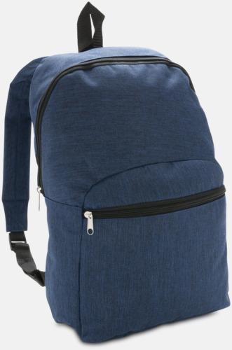 Marinblå Tvåtonade ryggsäckar med reklamtryck
