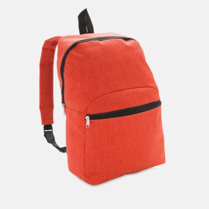 Orange Tvåtonade ryggsäckar med reklamtryck