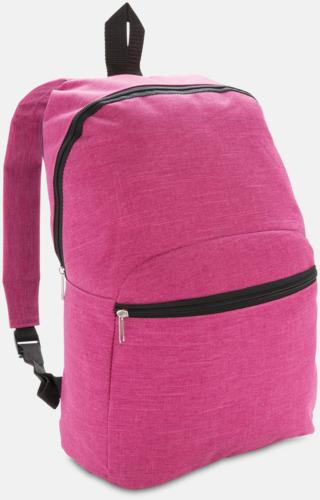 Rosa Tvåtonade ryggsäckar med reklamtryck