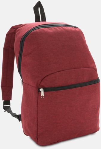 Röd Tvåtonade ryggsäckar med reklamtryck
