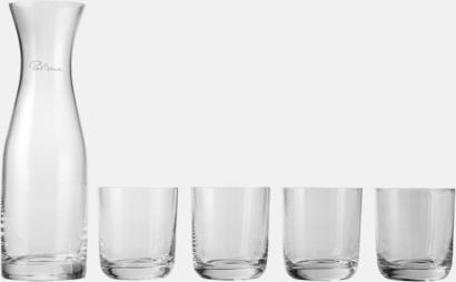 Transparent Karaff & dricksglas i set med reklamtryck