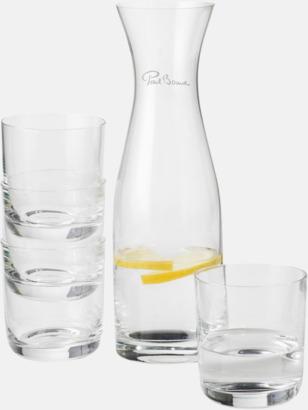 Karaff & dricksglas i set med reklamtryck