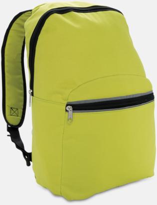 Limegrön Ryggsäckar med reflex - med reklamtryck