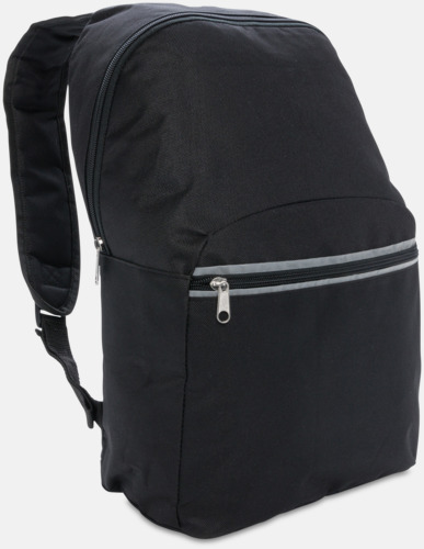 Svart Ryggsäckar med reflex - med reklamtryck