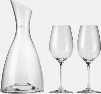 Transparent Vinkaraffset med reklamtryck