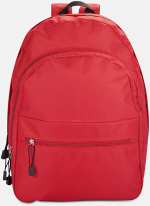 Röd Bas-ryggsäckar med reklamtryck