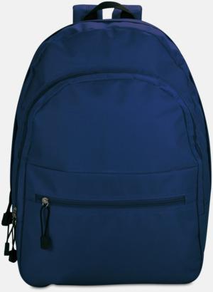 Marinblå Bas-ryggsäckar med reklamtryck