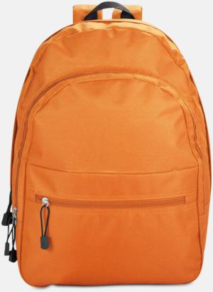Orange Bas-ryggsäckar med reklamtryck