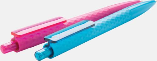 Diamantmönstrade plastpennor med reklamtryck