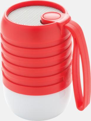 Röd Utehögtalare med färgskiftande lampa med reklamtryck