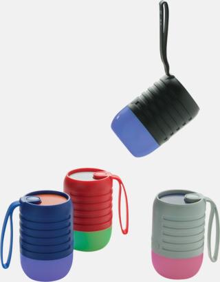 Utehögtalare med färgskiftande lampa med reklamtryck