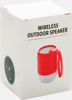 Presentförpackning Utehögtalare med färgskiftande lampa med reklamtryck