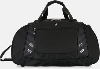 Svart Sportiga weekendbags från Swiss Peak med reklamtryck