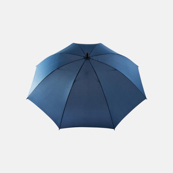 """Blå 30"""" stormparaplyer med reklamtryck"""