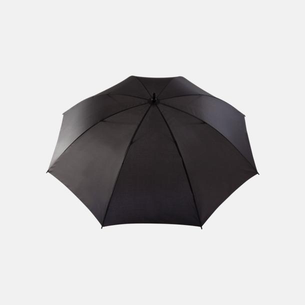 "Svart 30"" stormparaplyer med reklamtryck"